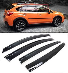 FOR 201316 SUBARU XV CROSSTREK  IMPREZA 5DR HATCHBACK WAGON SMOKE TINTED WINDOW VISOR RAIN GUARD WITH CLIPS * Details can be found by clicking on the image.