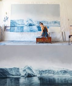 "Artist Zaria Forman creates photorealistic pastel drawings of landscapes affected by climate change. ""I'm trying to turn scientists' warnings and statistics into a more accessible medium,"" she explains, ""and hopefully it inspires people to make an impact in their own lives..."""