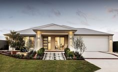 house facade single storey limestone and render - Google Search