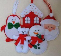 Atelier Giovanna Giovanni: Enfeites de Natal!!!!  Felt pattern Christmas
