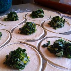 Spinach fatayir are a family favorite. My husband& grandmother made legendary fatayir, and while her recipe may be lost forever, m. Lebanese Cuisine, Lebanese Recipes, Greek Recipes, Raw Food Recipes, Cooking Recipes, Cooking Tips, Spinach Fatayer Recipe, Spinach Pie, Comida Kosher