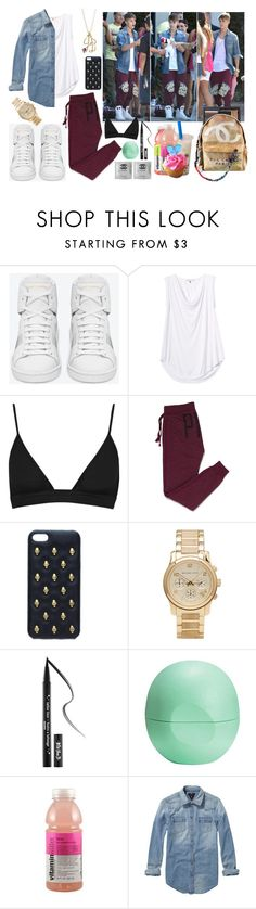 """Dress Like Justin Bieber."" by alejandramalagon ❤ liked on Polyvore featuring Justin Bieber, Yves Saint Laurent, Rebecca Taylor, T By Alexander Wang, Victoria's Secret PINK, Michael Kors, Kat Von D, Eos, Scotch & Soda and Chanel"