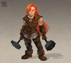 Image result for female dwarf shaman