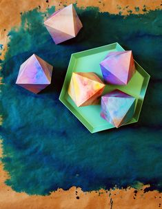 Watercolour Paper Gems Free Printables