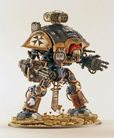 Warhammer, 40K Imperial Knight of house Terryn - posted in Ready for Inspection - SF & RealSpace: Hi folk, I finished my Imperial Knight kit and enjoyed every minute. A quick step-by-step is here should anyone wish to view it: http://www.britmodel...ther-bits-done/ I opted for the Knight Galant boxing which adds more versions over the original kit. It costs a tenner more but you get the choice of carapace mounted weaponry and new main weapons over and above the...