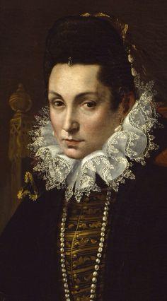 Portrait of Ginevra Aldrovandi Hercolani (detail), ca.1595, by Lavinia Fontana (1552–1614). Oil on canvas