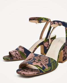 EMBROIDERED HIGH HEEL SANDALS-View all-SHOES-WOMAN | ZARA United States
