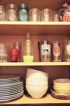 Before & After: Organized Glassware Is so Soothing