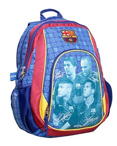 BEAUTIFUL (!!) Official Licensed Genuine TEAM SIGNATURE FC Barcelona Triple Fill High Quality PREMIUM Orthopedic Backpack - Licensed FC Barcelona Merchandise & New with Tags Barcelona F.C. http://www.amazon.com/dp/B008L460XI/ref=cm_sw_r_pi_dp_8tQVvb0VNVST0