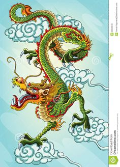 Chinese Dragon Painting - Download From Over 54 Million High Quality Stock Photos, Images, Vectors. Sign up for FREE today. Image: 22533949