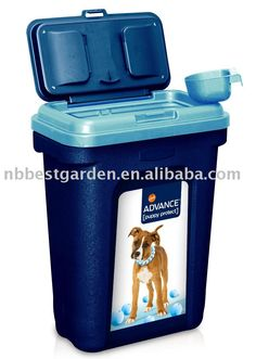 dog food bin pet food storage container  sc 1 st  Pinterest & Set of 2 airtight stacking food containers on casters with a scoop ...
