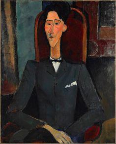 AMEDEO MODIGLIANI Jean Cocteau, 1917 Oil on Canvas Princeton University museum