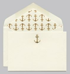 Engraved Gold Anchor for the desk
