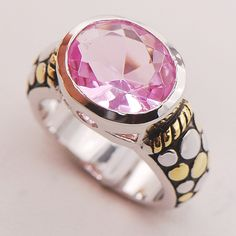 Pink Crystal Zircon Women 925 Sterling Silver Ring F729 Size 6 7 8 9 10 #Affiliate