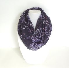 Hey, I found this really awesome Etsy listing at https://www.etsy.com/listing/200350804/purple-infinity-scarf-floral-scarf