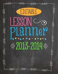My new updated Customizable Chalkboard & Brights Themed Teacher Planner & Organizer is HERE! This planner h. School Classroom, School Teacher, School Fun, Classroom Ideas, School Stuff, School Ideas, Music Classroom, Teacher Organization, Teacher Tools