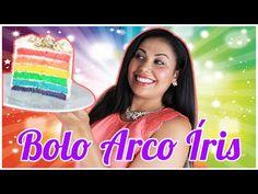 COMO FAZER BOLO ARCO ÍRIS RECEITA E CAMADAS COLORIDAS DIY COLORFUL RAINBOW CAKE CAKEPEDIA - YouTube