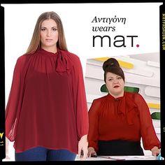 Η Αντιγόνη φορώντας την #bestseller πουκάμισα της #matfashion στην εκπομπή #fmlive @starchanneltv • Βρείτε την δική σας απόχρωση στο shop.matfashion.com • #mat_summer15 #wears_mat #shirt #bow #colours #fashion #ootd #dresslike #whattowear #outfit #inspiration