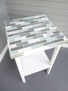 How to Tile a Small Table (Decor Adventures) Diy Table Top, A Table, Dining Table, Furniture Makeover, Diy Furniture, Tile Tables, Do It Yourself Furniture, Coffee And End Tables, Pub Table Sets
