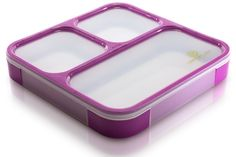 Amazon.com: Lifemark Labs Bento Lunch Box with 3 Compartments - Purple: Kitchen…