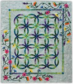 """Port Saint Lucie Crazy Quilters' 2014 Raffle Quilt - """"Tropical Paradise"""", a Judy Niemeyer/Quiltworx pattern"""