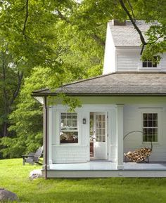 "I love ""solarium"" style rooms ... something off the house with lots of windows. This is a nice, small version. Plus, porch! Wishing ..."