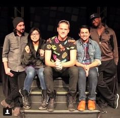PTX I love how Kevin is looking over at Avi, who is smiling down at Kirstie:) That and Avi wore Scott's shirt once and I just realized that now:)