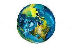 Watercolor Earth @creativework247