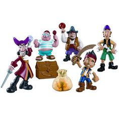 Jake and the Neverland Pirates Deluxe Adventure Figure Set