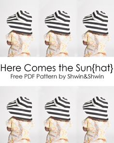 Here Comes the Sun{hat} || Free PDF Pattern || Summer Collection - Shwin and Shwin