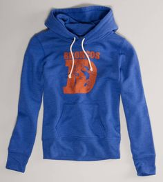 I didn't buy this from AE when it was available and now I have major regret! Love this old school Bronco hoodie. Wish their logo/bright blue would come back