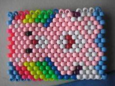 Rainbows and Pink Bears Kandi Cuff Bracelet PLUR Kandy FUN Rave Party Dance
