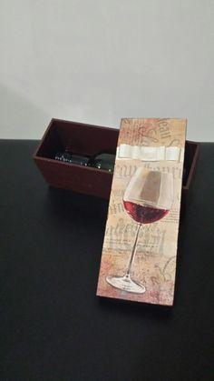 Mini caixa de vinho MDF