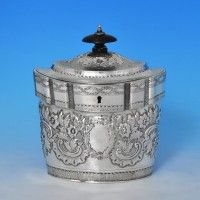 John Emes - 1798 Sterling Tea Caddy, London