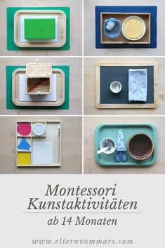 Erste Montessori Kunstmaterialien ab 14 Monaten First Montessori art materials from 14 months Art Activities For Toddlers, Infant Activities, Family Activities, Montessori Materials, Montessori Activities, Montessori Toddler, Toddler Play, Practical Life, Diy For Kids