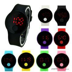 Наручные часы унисекс со светодиодным сенсорным экраном