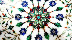 Exquisite Pietra Dura Inlay-work on Marble with Semi-precious Gems-stones, Agra, Uttar Pradesh, India