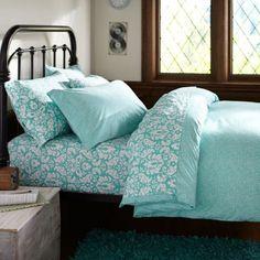 Mini Dot Duvet Cover + Pillowcases, Pool