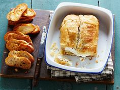 Bacon Ranch Cream Cheese Wellington - This #dip recipe is a cross between a baked #brie in #pastry and a more kid-friendly cream cheese log. The result is elegant enough for #entertaining, but the #bacon and #ranch flavors mean kids will love it too.