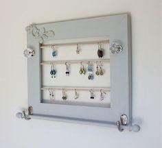 Jewelry Organizer Display Earring Rack Wall by onthewallusa, $29.00