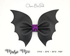 Classic Bat Pinch Bow SVG Halloween Bow Template Bat Wings   Etsy Felt Flowers Patterns, Fabric Flowers, Bat Silhouette, Bow Template, Templates, Halloween Bows, Halloween Ideas, Cricut, Glitter Canvas