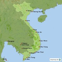 Vietnam Reisen Landkarte
