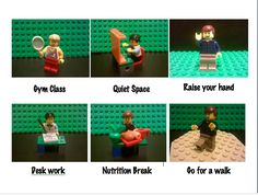 Made this LEGO visual schedule for one kiddo and ended up using it for many kiddos. Best part was making the vignettes with my own boys!