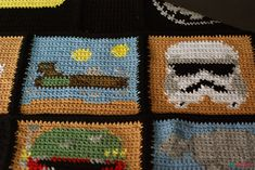 Star Wars crochet blanket : free charts and explanations ! |  LandspeederAhookamigurumi