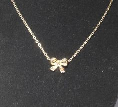 USA Women lady Fashion Chic New Gold Plated Necklace Bowknot Chain Jewelry Gift