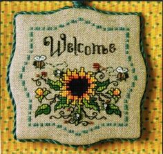 Sunflowers and Bumblebees Welcome - Cross Stitch Kit