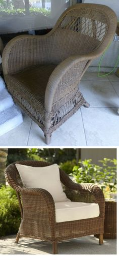 Best way to stain this wicker chair - Paint Forum - GardenWeb