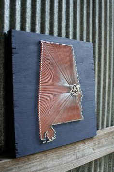 War Eagle // Reclaimed Wood Nail and String Tribute to Auburn University. $125.00, via Etsy. i want!