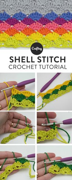 Learn how to do the crochet shell stitch with this simple step-by-step tutorial, then practice the stitch with four fabulous patterns. On Craftsy!