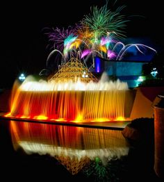 Illuminations Imagination fireworks fountain